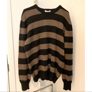 Made in Italy Cashmere wool sweater medium stripe